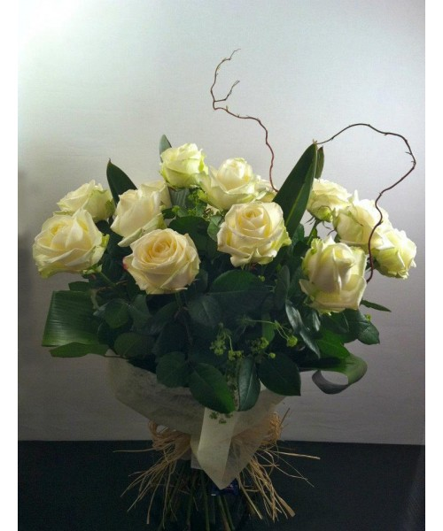 Rosas ramo 12 rosas blancas