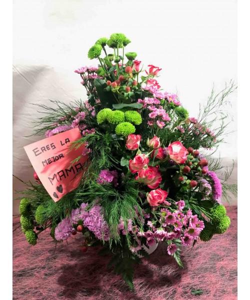 Centro flor compacto