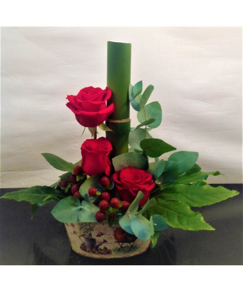 Amor con 3 rosas