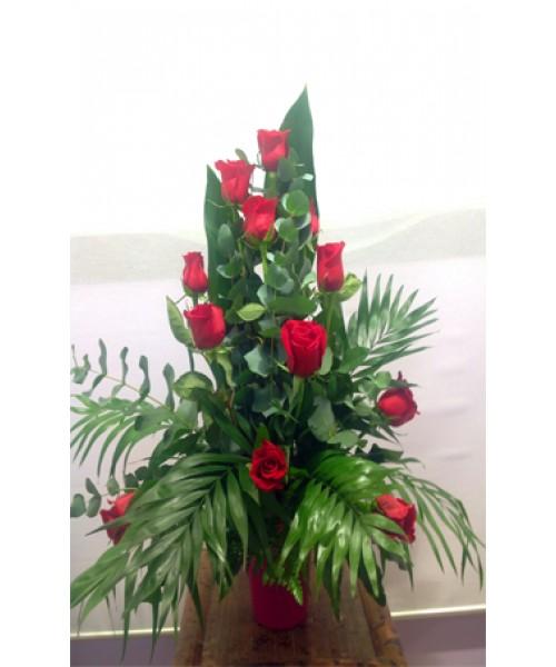 Centro decorativo 12 rosas