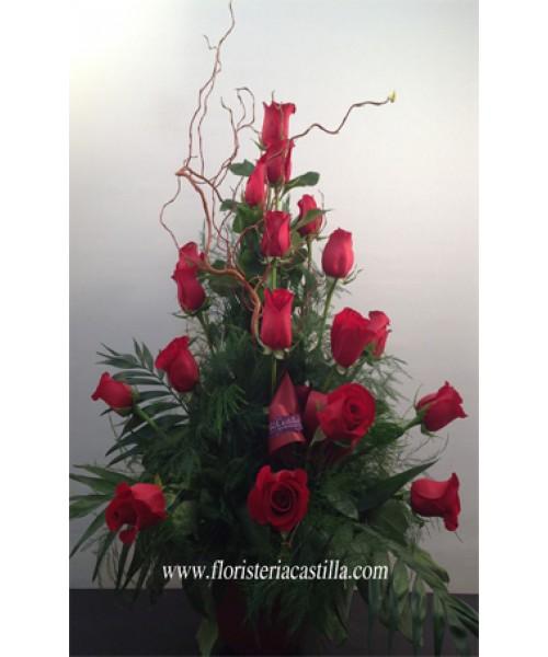 Rosas centro 18 rosas
