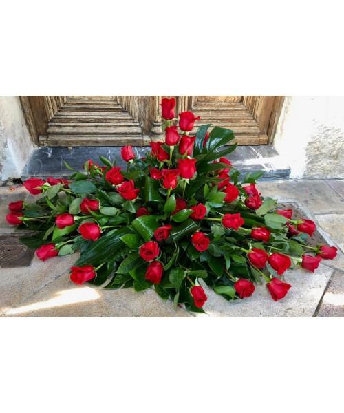 Palma 48 rosas rojas