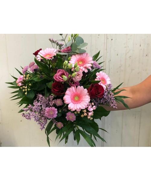 Ramo bouquet tonos rosas