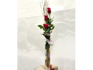 Amor con rosas en detalle