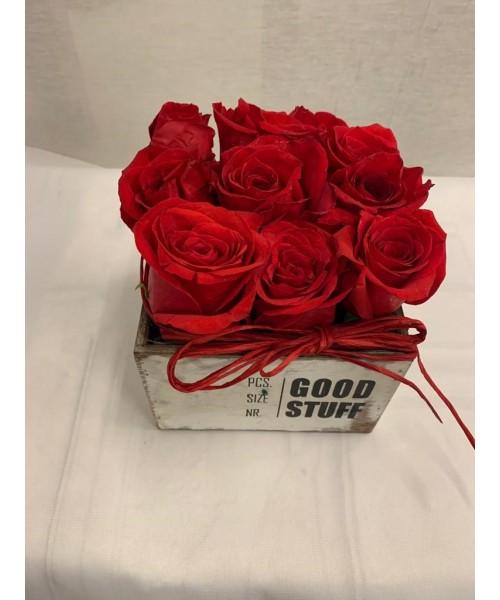 Cajita con rosas
