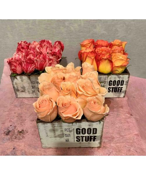 Rosas cajita vintage