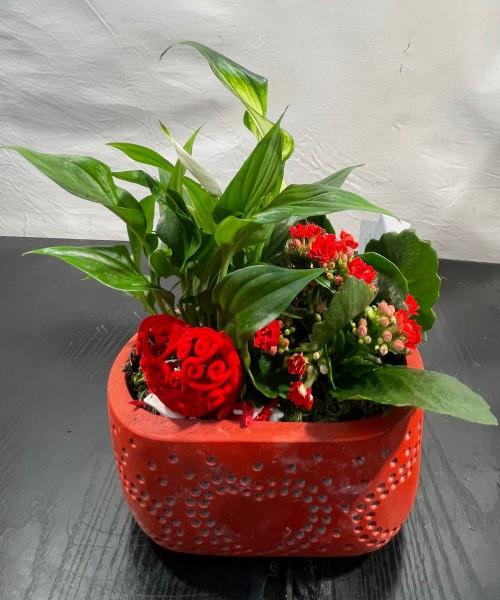 Centro cerámica Love