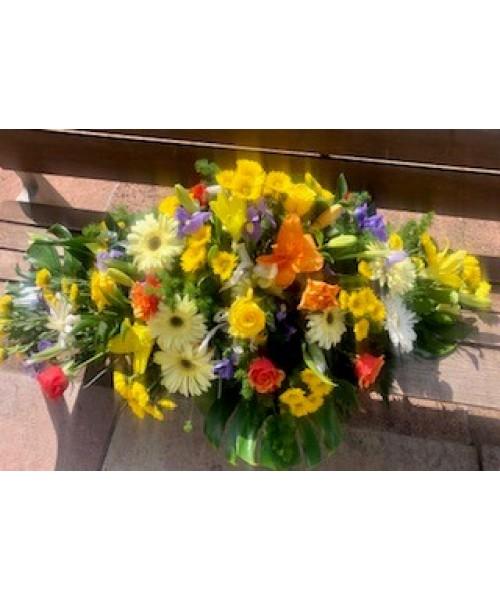 Centro funerario cubrir colorido