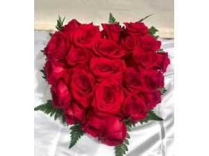 Rosas corazón de rosas