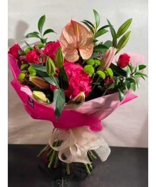 Ramo variado hortensia, lilium, anthurium, rosas y demás flor