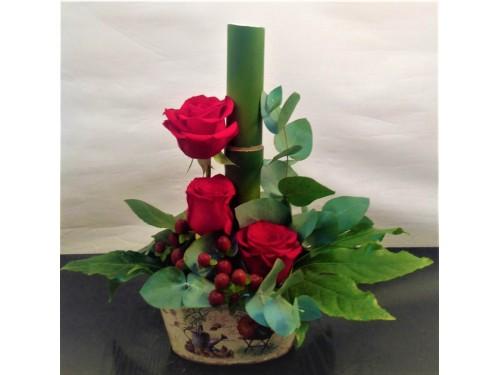 Centro de 3 rosas