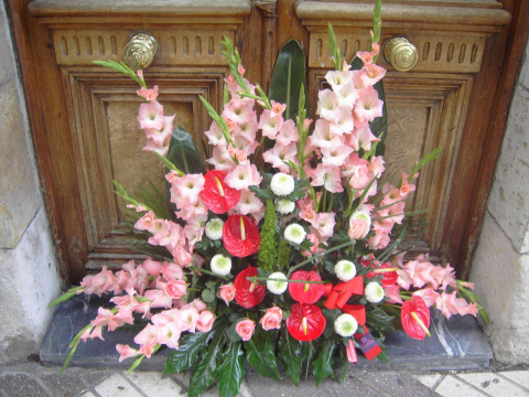 Jardinera de flor variada